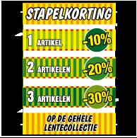 Poster stapelkorting lente groen STA-82