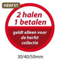 productstickers 2 halen 1 betalen herfst STV-035