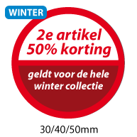 productstickers 2e artikel korting winter STV-033