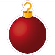 Raamsticker kerstbal VA-0087