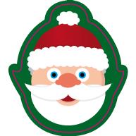 Raamsticker kerstmanhoofd VA-0081