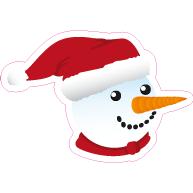 Raamsticker sneeuwpop VA-0076