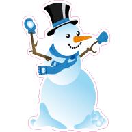 Raamsticker sneeuwpop VA-0074