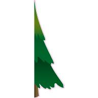 Raamsticker halve kerstboom 40x130 cm VA-0070