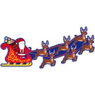 Raamsticker kerstslee VA-00208