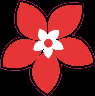 Raamsticker bloem VA-0053