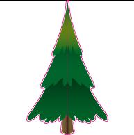 Raamsticker kerstboom 80x130 cm VA-0069