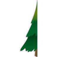 Raamsticker halve kerstboom 40x130 cm VA-0071