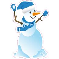 Raamsticker sneeuwpop VA-0072