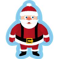 Raamsticker kerstman VA-0080