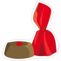 Raamsticker valentijn bonbon rood VA-0010
