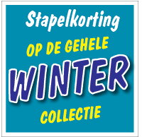 Etalagesticker stapelkorting winter blauw artikel STA-117