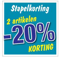 Etalagesticker stapelkorting winter blauw 2 artikel STA-119