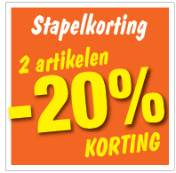 Etalagesticker stapelkorting zomer oranje 2 artikel STA-100