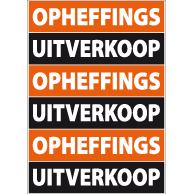 Poster opheffings-uitverkoop PO-024