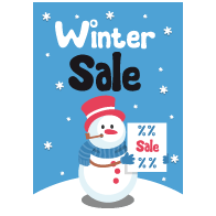 Poster winter sale PO-022