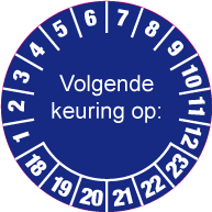 Keuringssticker KS-002
