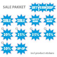 Pakket stickers PAK-02 Blauw