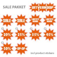 Pakket stickers PAK-02 Oranje