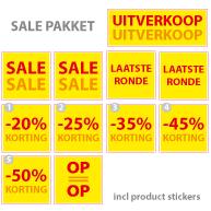 Pakket stickers PAK-01 Geel