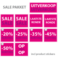 Pakket stickers PAK-01 Roze