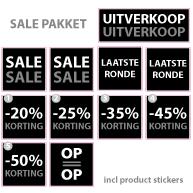 Pakket stickers PAK-01 Zwart
