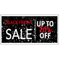 Black Friday Sale Raamsticker BF-013
