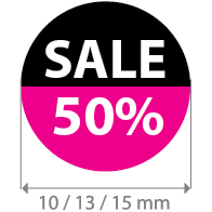 Brilsticker percentage sale rond BR-0002