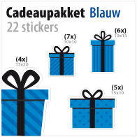 cadeausticker pakket STP-01 blauw