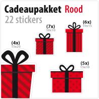 cadeausticker pakket STP-01 rood