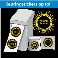 Keuringsstickers op rol SR-041