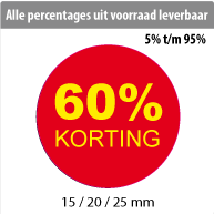 productstickers korting rond STV-012
