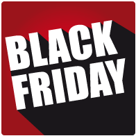 Raamsticker black friday sale vierkant BF-027