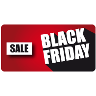 Raamsticker Black Friday sale rechthoek BF-029