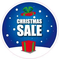 Raamsticker christmas sale rond VA-0106