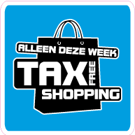 Raamsticker tax free shopping vierkant VI-007