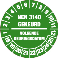 Keuringssticker KS-005