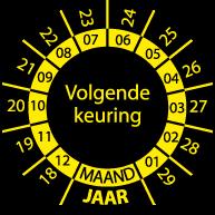 Keuringssticker KS-003