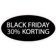 Raamsticker Black Friday OV-015
