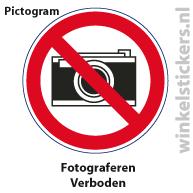 Pictogram 5 stuks 'fotograferen' PICTO-010