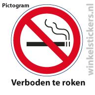 Pictogram 5 stuks 'roken' PICTO-001