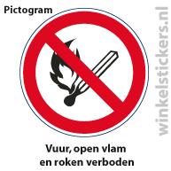 Pictogram 5 stuks 'open vlam' PICTO-003