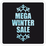 Raamsticker winter sale vierkant VI-023