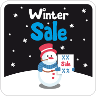 Raamsticker winter sale vierkant VI-020