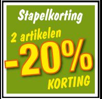 Etalagesticker stapelkorting lente groen 2 artikel STA-73