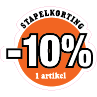 Etalagesticker stapelkorting zomer oranje 1 artikel STA-88