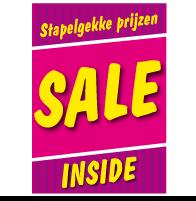 Poster stapelkorting lente roze STA-62