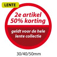 productstickers 2e artikel korting lente STV-043