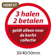 productstickers 3 halen 2 betalen herfst STV-039