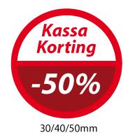 productstickers kassa korting  STV-050